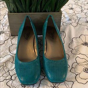 Turquoise Wedge Shoe